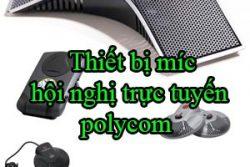 Thiet Bi Mic Hoi Nghi Truc Tuyen Polycom